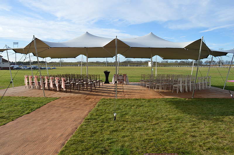 Stretch tent at Chelmsford city race course.