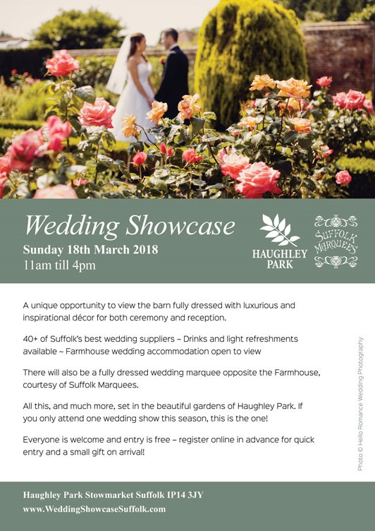 HAUGHLEY PARK WEDDING SHOWCASE